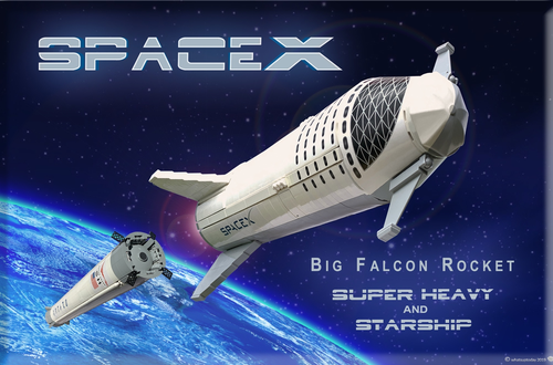 10K Club Interview: Meet Matthew, Mark & Valerie of SpaceX BFR Starship & Super Heavy 1:110 Scale Image