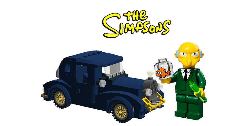 Simpsons Series 1 lego mini figure MAGGIE with bobo the bear
