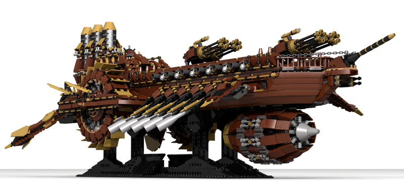 Lego Ideas Steampunk Battleship
