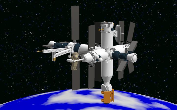 Lego Ideas Mir Space Station