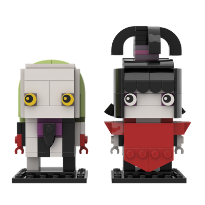 Lego Ideas Beetlejuice Cartoon Brickheadz Lydia Deetz And Beetlejuice