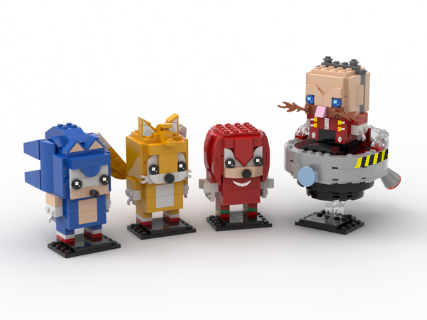 Lego Ideas Sonic The Hedgehog Series Brickheadz Sonic Tails Knuckles And Dr Eggman