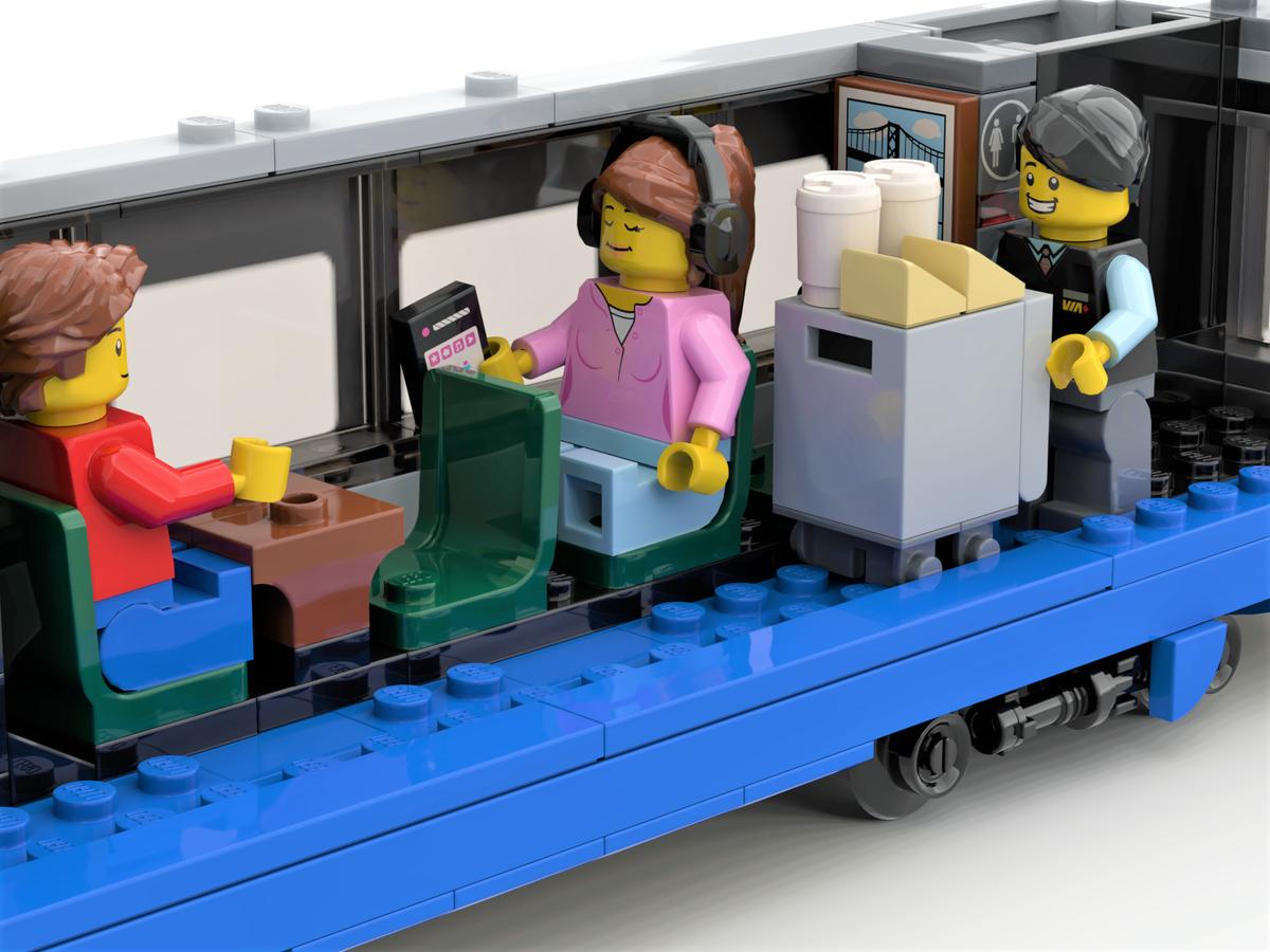 Interior of LRC coach in LEGO