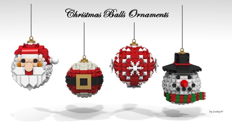 Lego Ideas Christmas Balls Ornaments