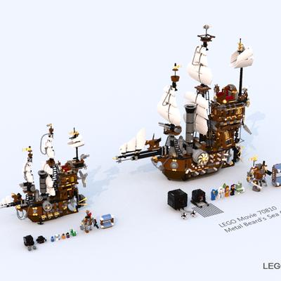 Lego Ideas Metal Beard S Sea Cow Midi Scale
