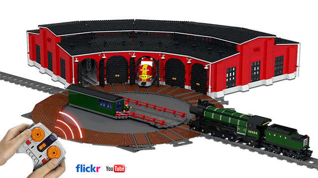 LEGO IDEAS - - Train Turntable and Roundhouse on o gauge turntable plans, railroad roundhouses missouri, railroad roundhouses in ohio, 4x8 ho track plans, walthers track plans, on30 track plans, railroad engine shed plans, railroad turntable, ho scale turntable plans, railroad tracks, railroad stations, railroad yard design, railroad yards in chicago, railroad water tower plans, railroad shops, railroad structure plans, railroad roundhouses chicago, lionel train track layout plans,