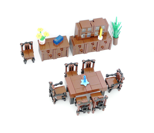 Minifig Furniture Dining Room