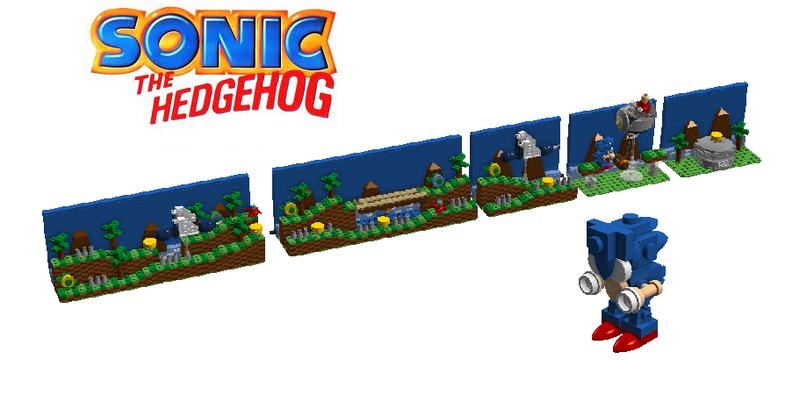 Lego Ideas Sonic The Hedgehog Green Hill Zone