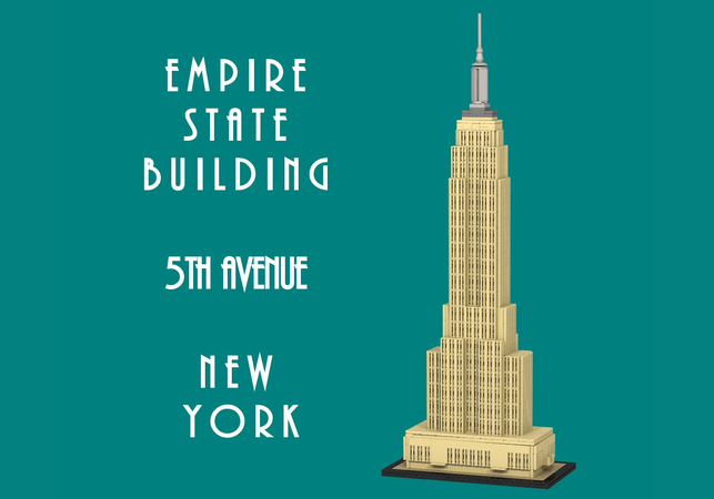Lego empire state building 2020