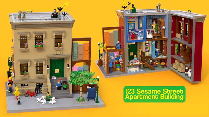NEW Elmo And Bert Official Lego Sesame Street