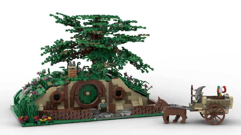Lego Ideas Extended Hobbit Hole The Fellowship Of The Ring