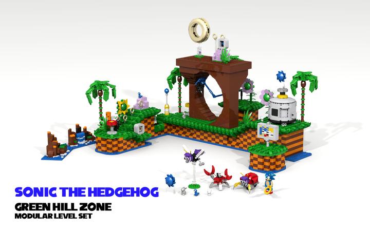 Lego Ideas Sonic The Hedgehog Green Hill Zone Modular Level Set