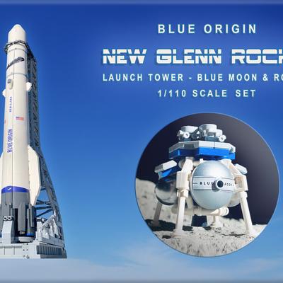 LEGO BLACK ROCKET Space Ship Missile Moon