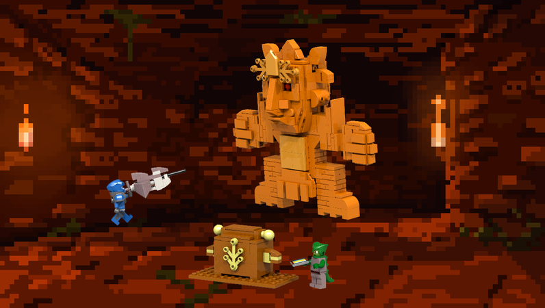 Lego Ideas Terraria Golem Temple Fight Terraria how to beat easy the golem in 1.4 in 30 seconds! lego ideas terraria golem temple fight